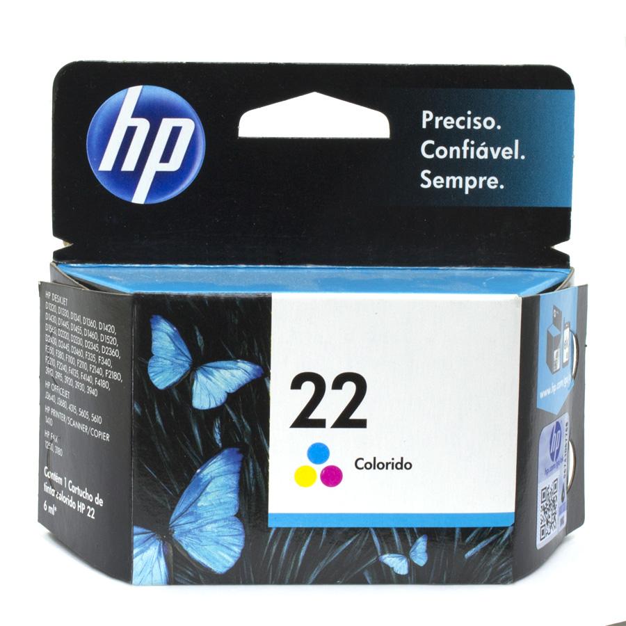 Cartucho 22 Original HP Colorido