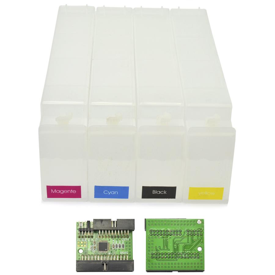 Cartucho Recarregável HP 80 para Plotter Designjet 1050c e 1055 com Chip Reset