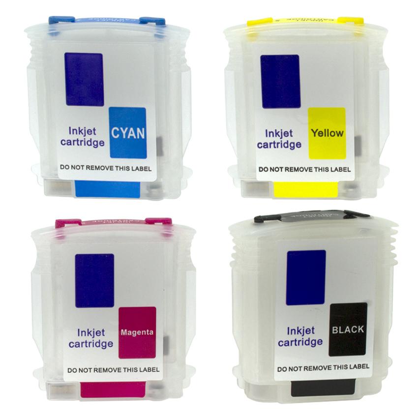 Cartuchos Recarregáveis HP 111, 111r e 110 Designjet Plotter Ch565a e Ch566a