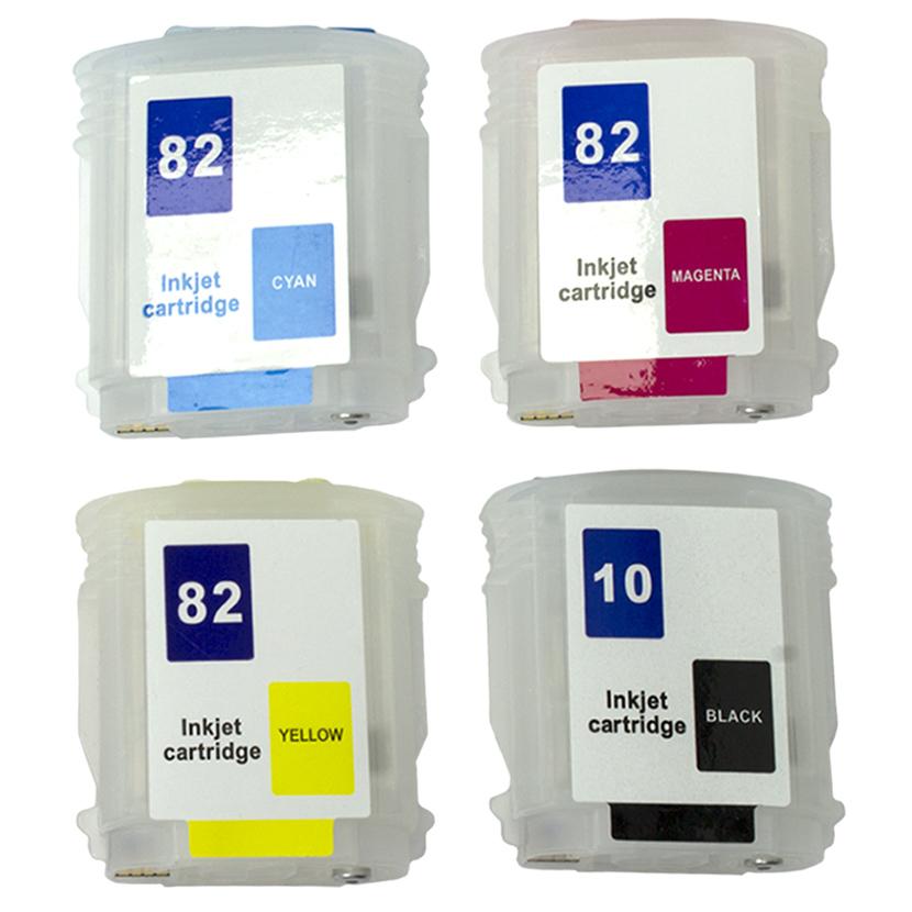 Cartuchos Recarregáveis HP 510 Designjet Plotter Ch565a, Ch566a e Ch567a