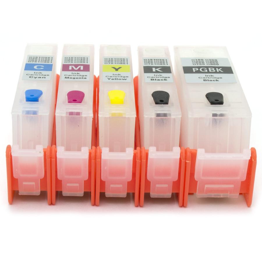Cartuchos Recarregáveis para Canon Mg5410, Ip7210 e Mg5510 com Chip Full