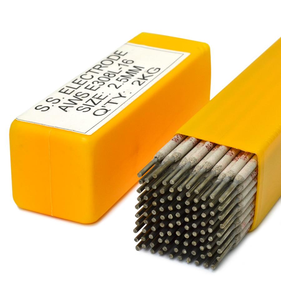 Eletrodo revestido modelo 308L-16 de 2,5mm para soldar a arco de 2,0 kg