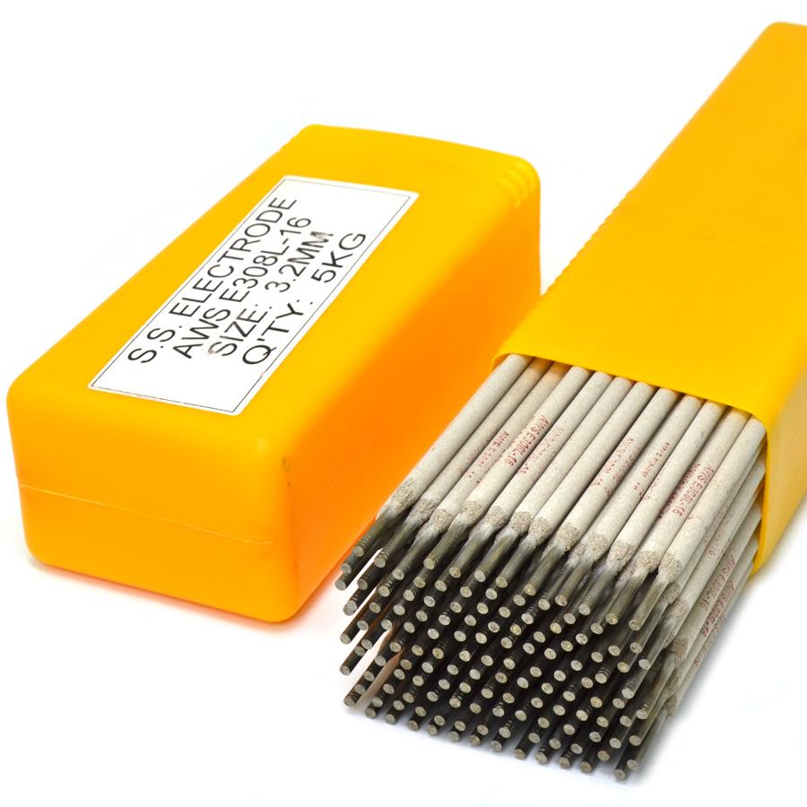 Eletrodo revestido modelo 308L-16 de 3,2mm para soldar a arco de 5,1kg