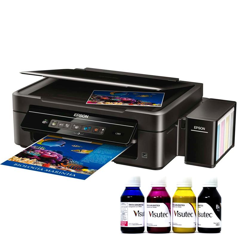 Impressora Multifuncional Epson Ecotank L220 Bulk Ink + 400ml Tinta Sublimática