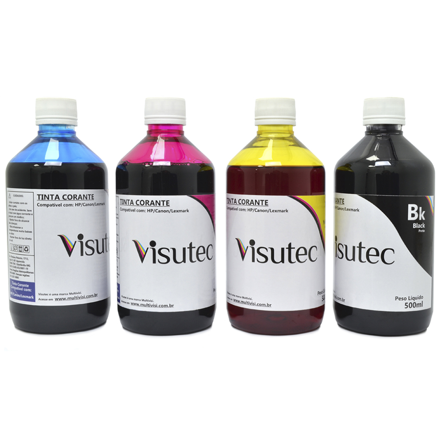 KIT 2 litros de tinta HP, Canon e Lexmark sendo 500ml de cada cor