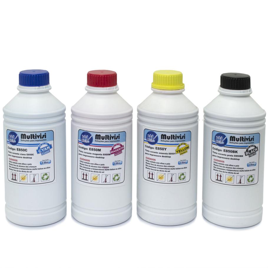 Kit 4 Litros de Tinta Corante para Epson e Brother (1 litro de cada cor)