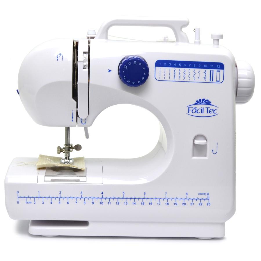 Máquina de Costura Portátil 12 pontos FÁCIL TEC FHSM-506 com Luz e Selo do INMETRO Bivolt