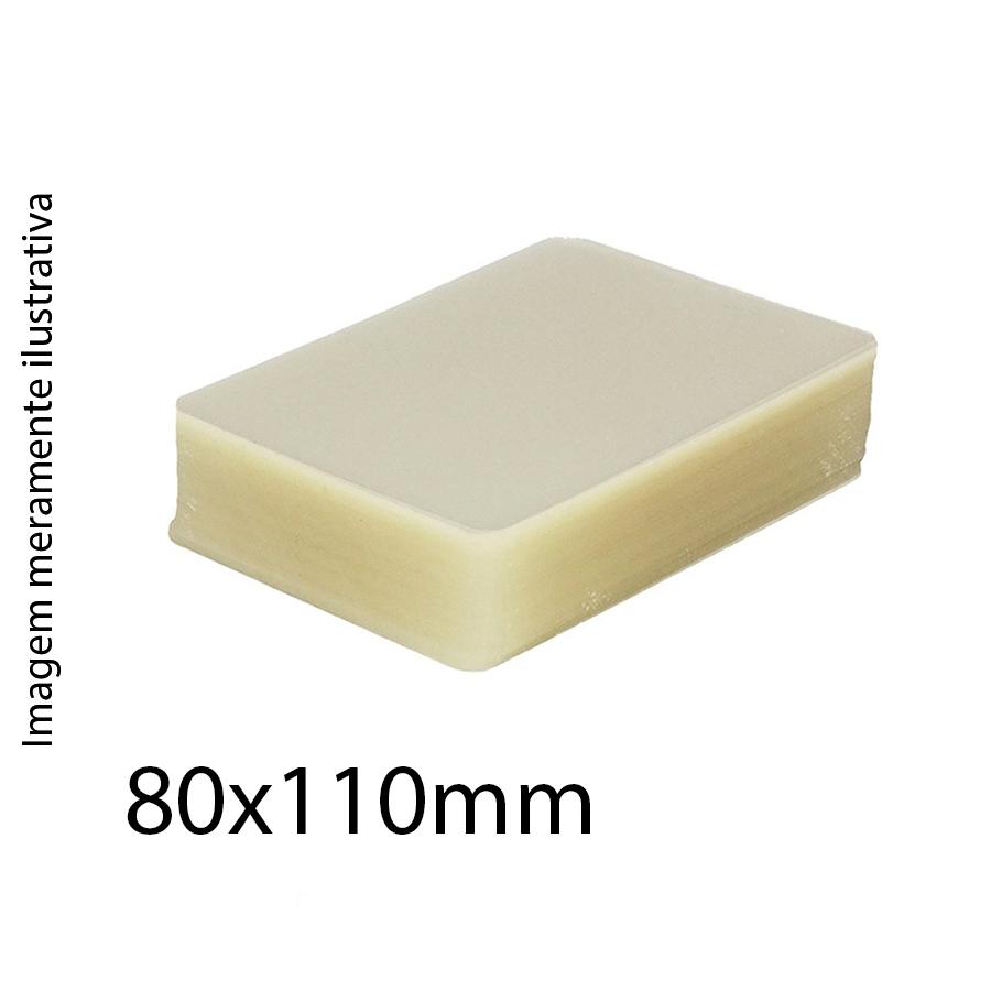 Polaseal para Plastificação 80x110mm de 0,05mm - 100 unidades
