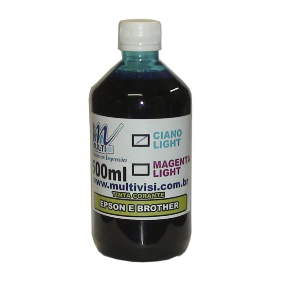 Tinta Corante Ciano Light para Epson e Brother (500ml)