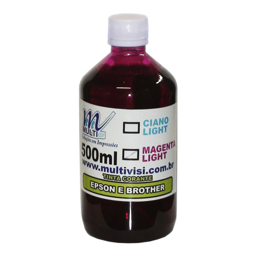 Tinta Corante  Magenta Light para Epson e Brother (500ml)