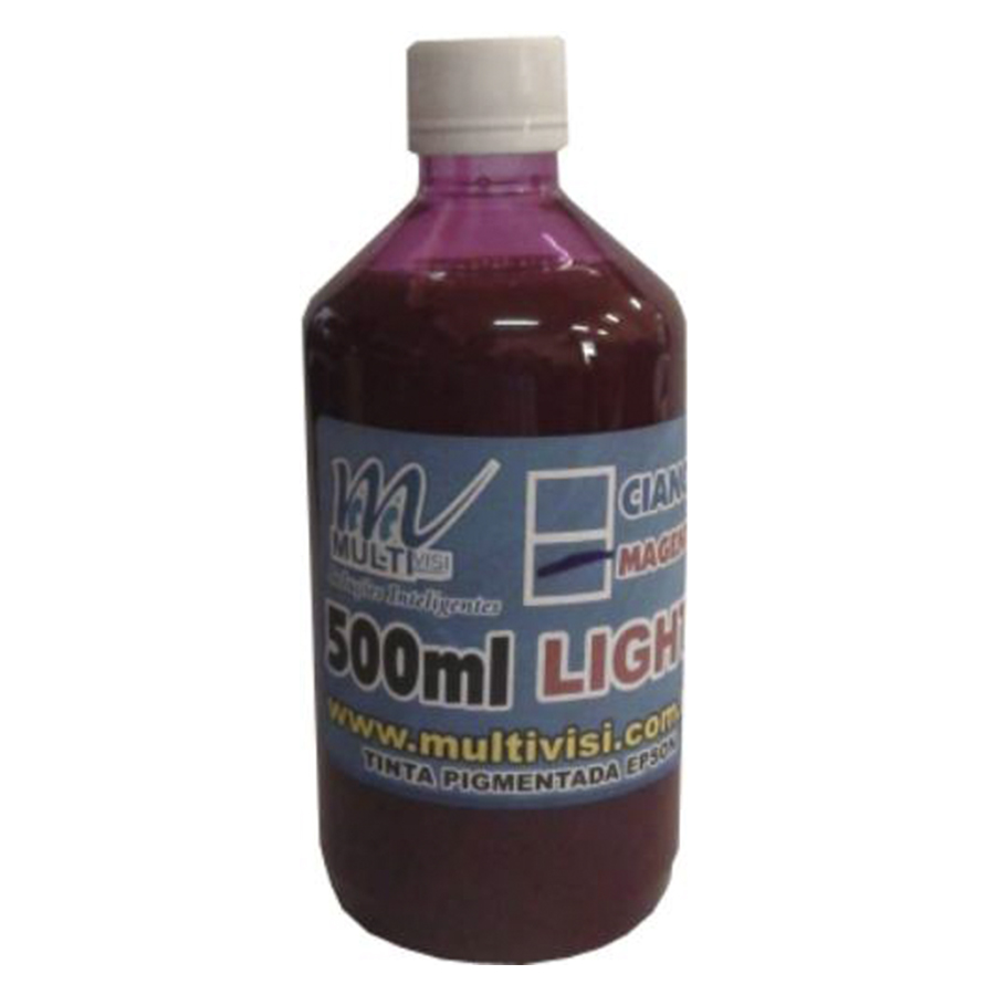 Tinta Pigmentada Magenta Light para Epson e Brother (500ml)