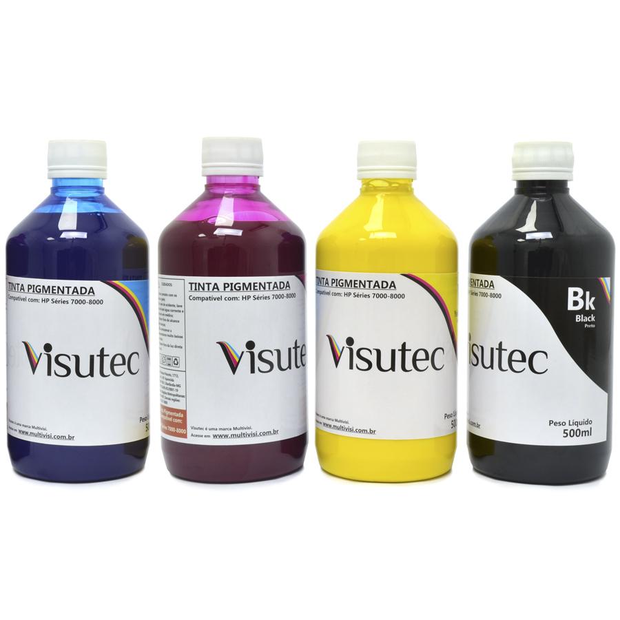 Tinta Pigmentada para HP 8000, 8500, 8600, 8610, 7110, X451, X476 (500ml)