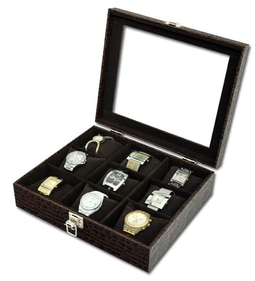 d022776e734 Estojo   Porta Relógios para 9 relógios com expositor - Estojoias  Embalagens para Joias ...