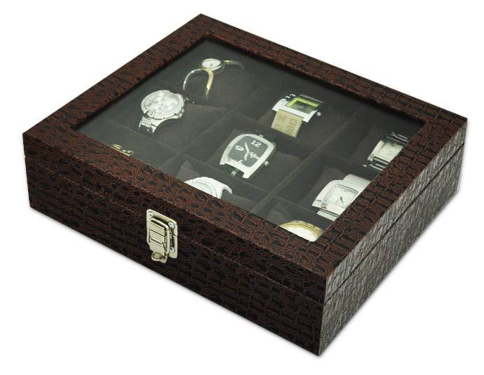 6ac3c393ea1 ... Estojo   Porta Relógios para 9 relógios com expositor - Estojoias  Embalagens para Joias