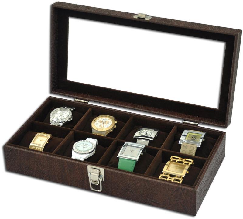e8c8e5c0d Estojo / Porta relógios para 8 relógios com expositor - Estojoias  Embalagens para Joias ...