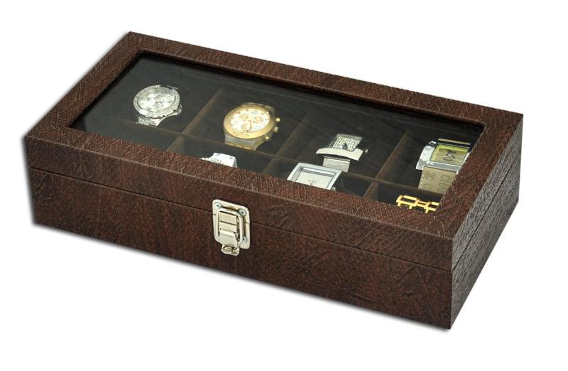 884743af2d8 ... Estojo   Porta relógios para 8 relógios com expositor - Estojoias  Embalagens para Joias ...