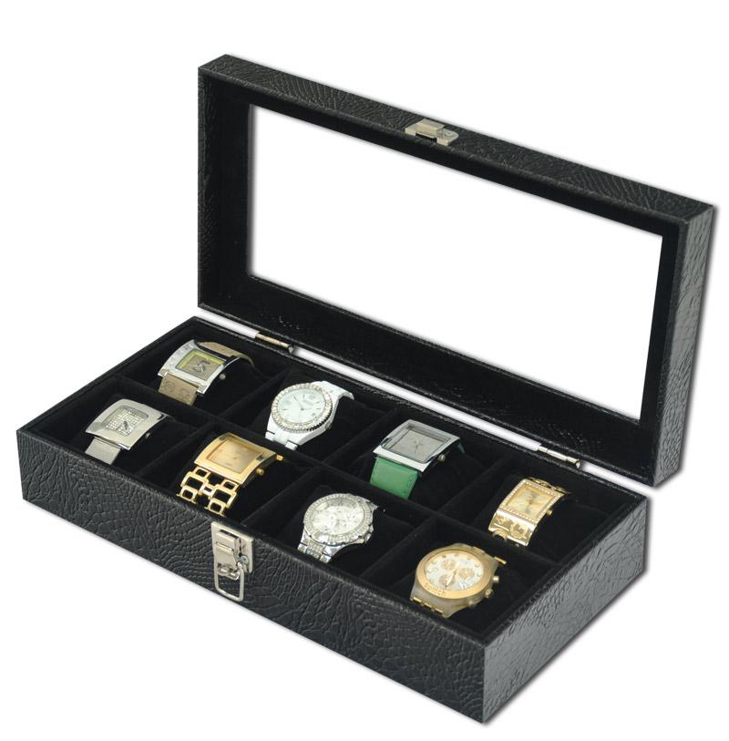 36f979b29 ... Estojo   Porta relógios para 8 relógios com expositor - Estojoias  Embalagens para Joias ...