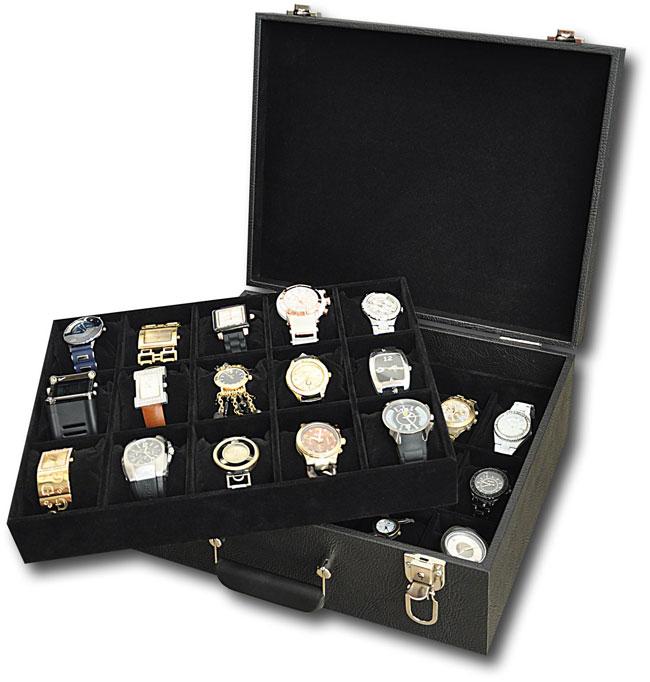 804b2e1f196 Mala   Porta relógios para 30 relógios - Estojoias Embalagens para Joias ...