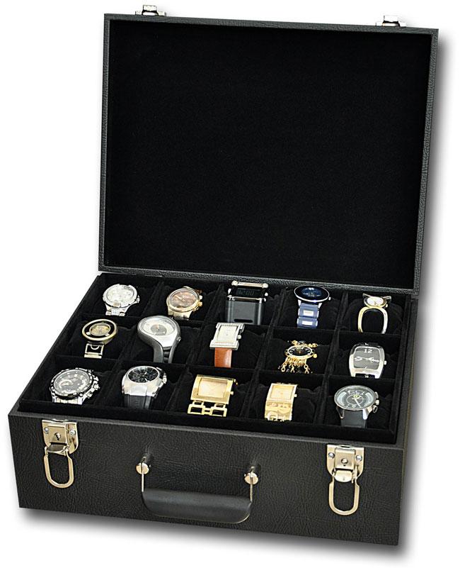 2aa67cebb9e ... Mala   Porta relógios para 30 relógios - Estojoias Embalagens para Joias  ...