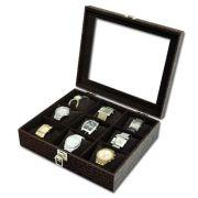 Estojo / Porta Relógios para 9 relógios com expositor