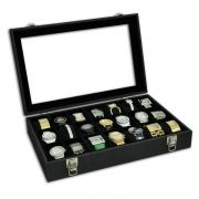 Estojo / Porta relógios para 21 relógios com expositor