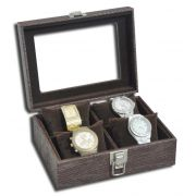 Estojo / Porta relógios para 4 relógios com expositor