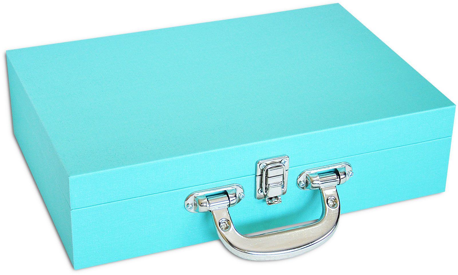 Maleta / Porta Joias Grande Duplo - Tiffany Blue