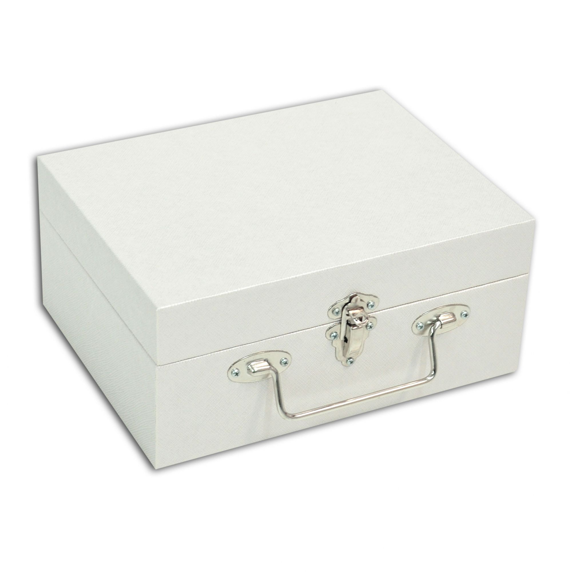 Maleta / Porta Joias Pequeno Duplo - Perolizado / Cinza
