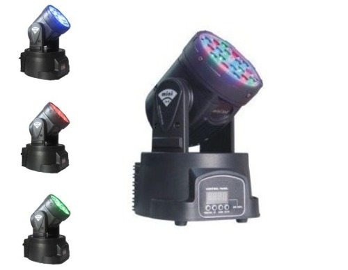 Moving Head 18 Leds - 3 Watts - Dmx - ILIMITI SHOP