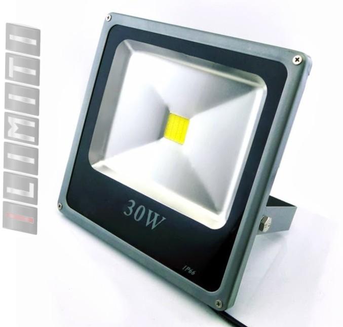 Refletor Led - Holofote Branco Frio 30w - Ip66 Bivolt Slim - ILIMITI SHOP