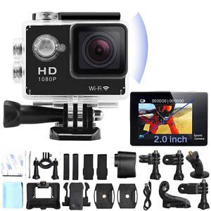 Camera Sportswifi Filma Hd Prova D'agua + Bastão Selfie+Cartão32GB - ILIMITI SHOP