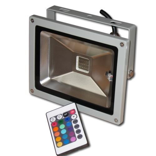 Refletor Holofote De Led 10w Rgb,com Controle - ILIMITI SHOP