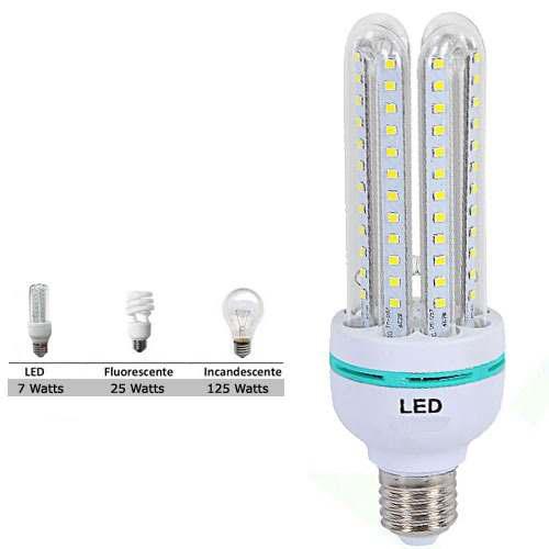 Lâmpada Super Led 7w Econômica Bivolt E27 Branco Frio 6000k - ILIMITI SHOP