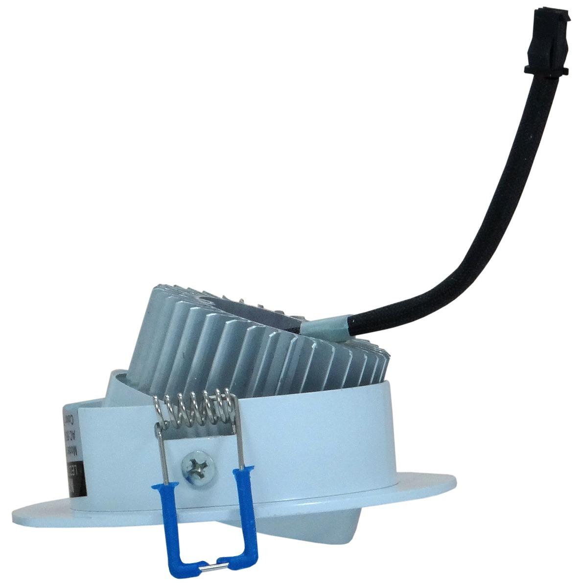 Kit 20 Lampada Spot Aluminio Led 3w Branco Frio - ILIMITI SHOP