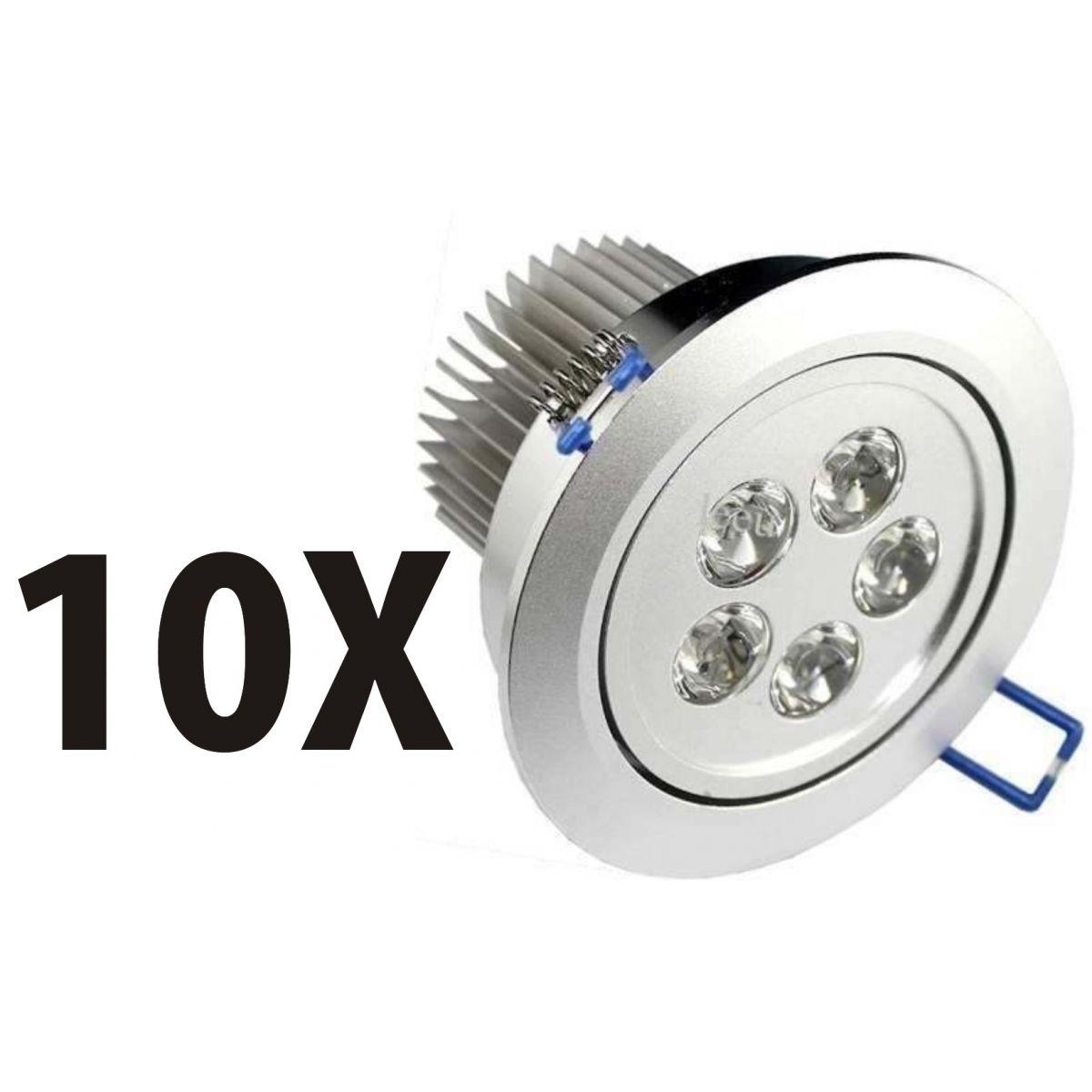 Kit 10 Spot Super Led Direcionável 5w P/ Teto Sanca E Gesso - ILIMITI SHOP