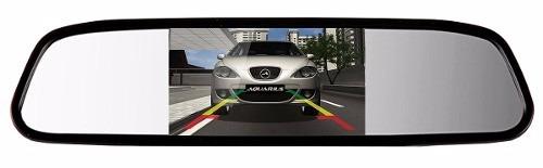 Kit Espelho Retrovisor Monitor Tela Lcd 4.3 + Câmera Ré - ILIMITI SHOP