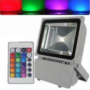 Refletor Holofote De Led 100w Rgb,com Controle - ILIMITI SHOP