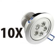 Kit 10 Spot Super Led Direcionável 5w P/ Teto Sanca E Gesso - ILIMITI SHOP
