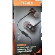 Fone De Ouvido Celular Kaidi Kd100 Super Bass Metálic - ILIMITI SHOP