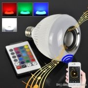 Lampada Led 6w Rgb Caixa Som Bluetooth 2 Em 1 Mp3 Music Bulb - ILIMITI SHOP