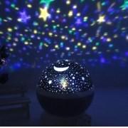 Luminaria Abajur Rotativa Projetor Globo Estrela Criança Fes - ILIMITI SHOP
