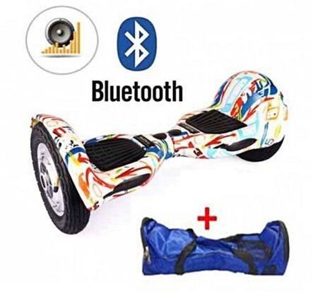 Skate Elétrico 10 Polegadas Bluetooth Hoverboard + Brinde - ILIMITI SHOP
