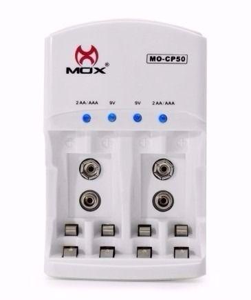 Carregador De Pilhas Baterias Bi-volt Auto Stop Mox Mo-cp50 - ILIMITI SHOP
