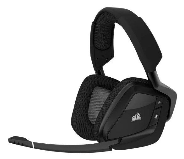 Headset Sem Fio Gamer Corsair Dolby 7.1 Rgb Carbon Void Pro - ILIMITI SHOP