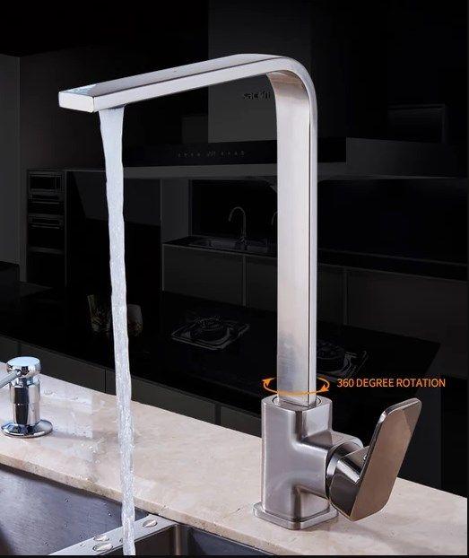 Torneira Cozinha Arco Alto Grau Rotação 360º C10095 - ILIMITI SHOP