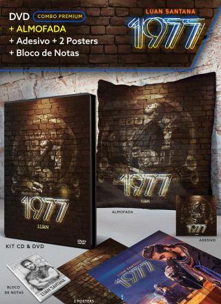 Pr�-Venda Combo Premium Luan Santana 1977 DVD + Almofada + 2 P�steres + Adesivo + Bloco Gr�tis