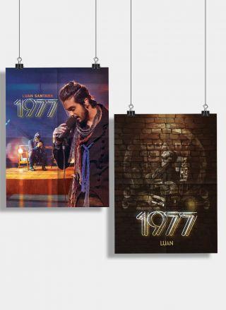 Pr�-Venda Kit CD+DVD Luan Santana 1977 + 2 P�steres e Adesivo GR�TIS