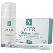 Kit Acne Veer   - Acne Point 0,3g (lapiseira secativa) + Cleanser Acne 80g (sabonete em barra) + Reg