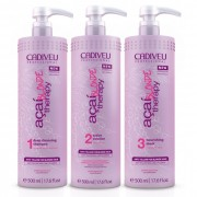 Kit A�a� Blonde Therapy CADIVEU ( Shampoo 500ml, Active Solution 500ml, Nourishing Mask 500ml), **Ga