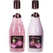 KIT Shampoo + Condicionador Profissional Para Cabelos Volumosos Uva + Karit� 300ml